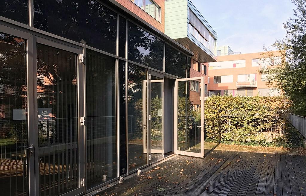 Der Seminarraum Kreativ - Außenterrasse, Locinar.plus Osnabrück